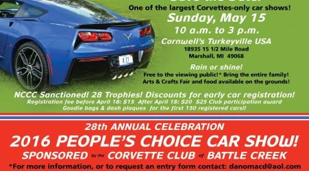 Corvette Show Card 2016